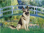LILY POND BRIDGE<br>& German Shepherd