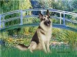 LILY POND BRIDGE<br>& German Shepherd