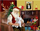 SANTA AT HOME<br>& Maltese #11