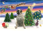 SANTA'S TAKE OFF<br>With a Bull Mastiff (#11)
