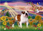 AUTUMN ANGEL <br>& English Bulldog (Br-white)