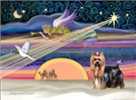CHRISTMAS STAR<br>& Yorkshire Terrier (#9)