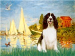 SAILBOATS<br>& English Springer Spaniel (Liver)