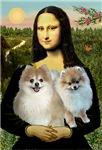 MONA LISA<br> & 2 Pomeranians