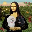 MONA LISA<br>& 2 Poodles (Toy/Min)