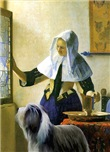 MAID & WATER PITCHER (VERMEER)
