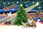 CHRISTMAS MAGIC<br>& 2 Welsh Corgis P3