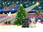 CHRISTMAS MAGIC<br>&  2 Scottish Terriers