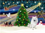CHRISTMAS MAGIC<br>& American Eskimo Spitz