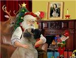 SANTA AT HOME<br>& Bull Mastiff
