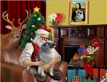 SANTA AT HOME<br>& Keeshond