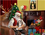 SANTA AT HOME<br>& Lhasa Apso