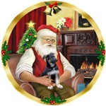 SANTA AT HOME<br>& German Shepherd