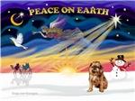 CHRISTMAS SUNRISE<br>& Brussels Griffon