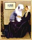 WHISTLER'S MOTHER<br>& Old English Sheepdog