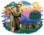 St. Francis #2 &<br> Pugs (2 black)