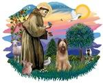 St. Francis #2 &Briard (fawn)