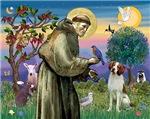 Saint Francis / Brittany Spaniel