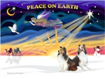 CHRISTMAS SUNRISE<br>& Two Shetland Sheepdogs