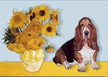 SUNFLOWERS<br>& Basset Hound