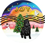 CHRISTMAS MUSIC #2<br>Black Chinese Shar Pei