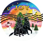 CHRISTMAS MUSIC #2<br>Two Flat Coated Retrievers