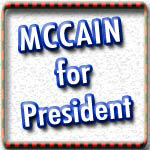 John McCain T-shirts, Buttons, Stickers, Bags