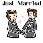 Just Married Gay Wedding T-shirts, Gifts