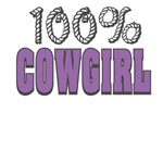 100% Cowgirl T-shirts and Gifts