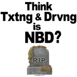 Anti-Texting While Driving T-shirts and Swag