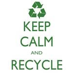 Keep Calm and Recycle T-shirts and Gear
