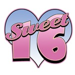 Sweet 16 Heart Sixteen Birthday T-Shirts & Gifts
