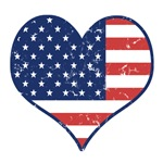 Patriotic Heart Independence Day T-Shirts & Gifts