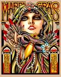 Mardi Gras Costumed Woman