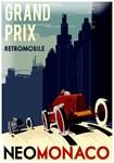 Monaco Neo Vintage Grand Prix auto racing Advertis