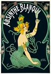 Absinthe Blanqui Vintage Liquor Print