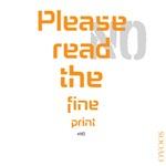 OYOOS Read the fine print #no design