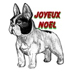 Joyeux Noël french bulldog