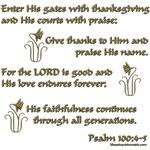 Psalm 100: 4-5