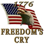 Freedom's Cry Eagle & Flag T-shirts & Gift Ideas