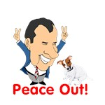 President Nixon and JRT Peace Out