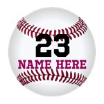 Baseball Name Number