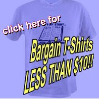 Bargain T-Shirts for LESS THAN $10.00