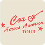 Vintage Cox Across America Tour T-shirt
