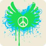 Peace and Love Graphic T-Shirt