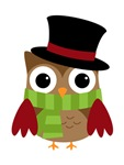 Scrooch Christmas Owl
