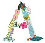 Floral Monogram A