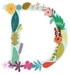 Floral Monogram D