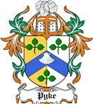 Pyke Coat of Arms, Family Crest