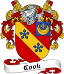 Cook Family Crest, Coat of Arms